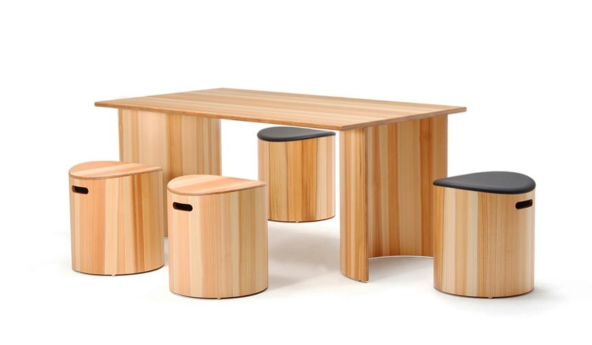 Tendo Mokko|天童木工の独自技術が凝縮。シンプルながら個性が光る新作家具