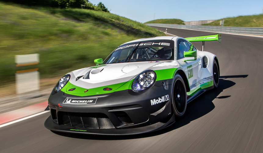 ポルシェのレーシングカー911 GT3R、2019年モデル登場|Porsche