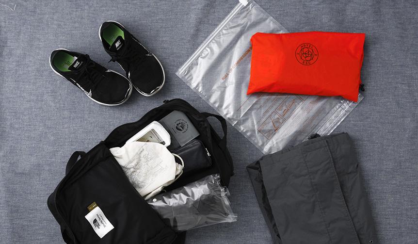 HIGHTIDE|出張や旅行、自宅の収納に最適。折り曲げるだけで真空になる圧縮袋