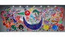 香取慎吾作品の一部。日本財団パラリンピックサポートセンターオフィスの壁画