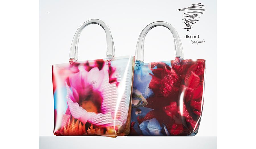 discord Yohji Yamamoto|ディスコード ヨウジヤマモト×蜷川実花、花の写真をもちいたクリアバッグを発表