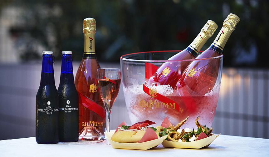MAISON MUMM|夏の宵に最適のキリリとしたロゼシャンパーニュをオープンテラスで堪能