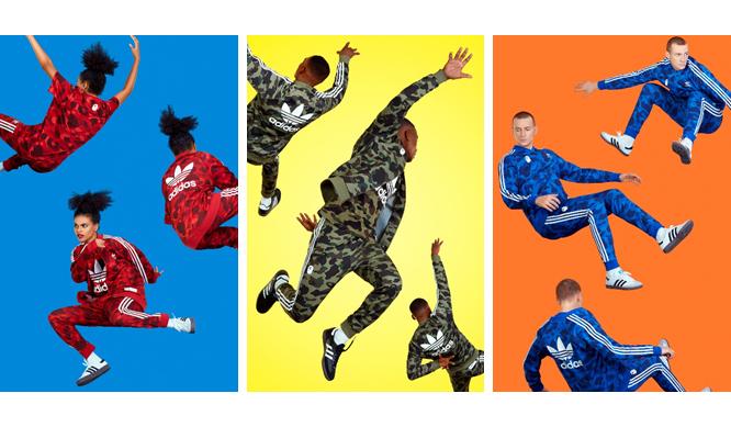 adidas|アディダス オリジナルス×ベイプ、「adicolor」にエイプ独自のカモ柄が登場