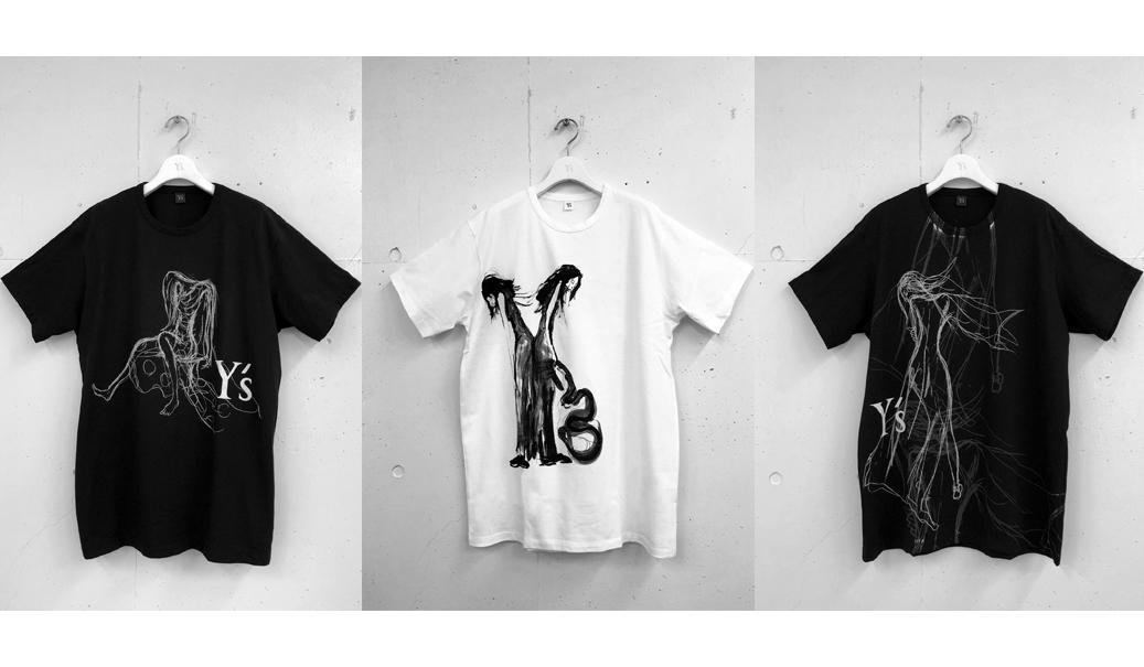 YOHJI YAMAMOTO Y's|山本耀司が描いたドローイングを配したTシャツコレクション第2弾