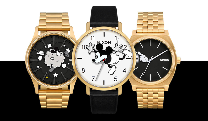 NIXON ミッキーマウス生誕90周年を祝した、プレイフルなコレクション