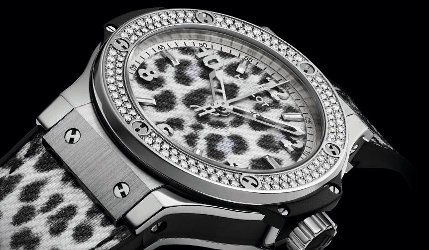 HUBLOT|レオパード柄×ダイヤモンドの「ビッグ・バン スノーレオパード ダイヤモンド」