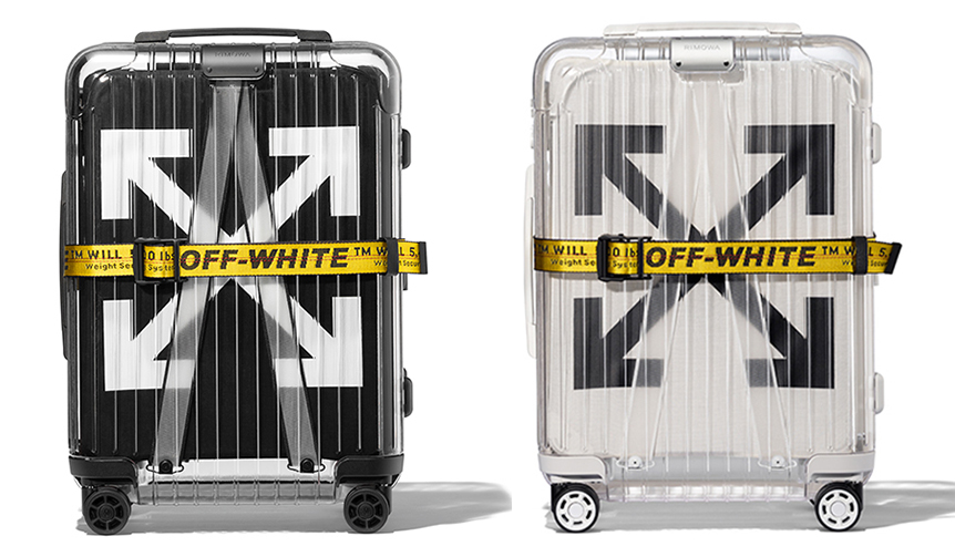 RIMOWA|OFF-WHITE™とコラボレートしたスケルトンなスーツケース
