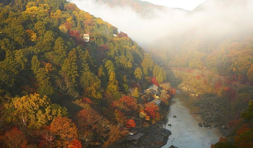 HOSHINOYA Kyoto|1日1組限定、紅葉に彩られた京都の街を巡る「紅葉ヘリクルーズ」