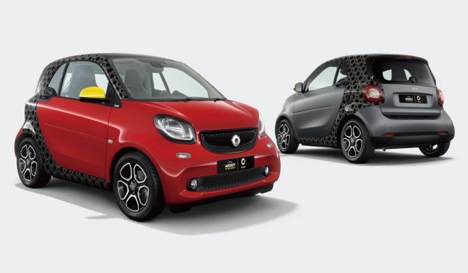 ミッキーマウスをイメージしたスマートの特別仕様車|smart