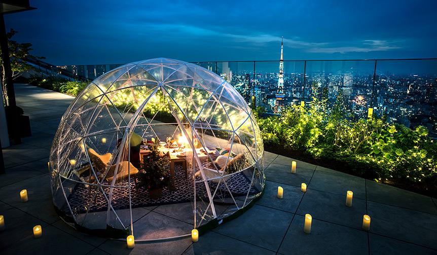 EAT|アンダーズ 東京のルーフトップ テラスに「星降る夜のクリスマスイグルー」