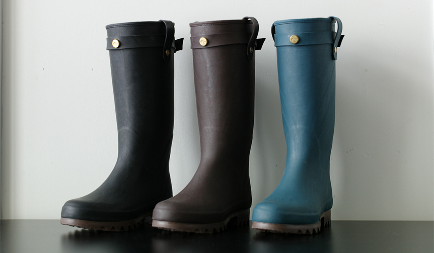 Daiichi Rubber|生産は小樽市の老舗ゴム長靴メーカーが担当。現代的なラバーブーツ