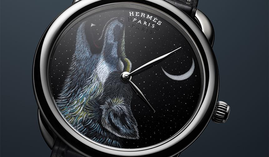 HERMÈS|世界限定8本 夜空に吠えるオオカミを描いた「アルソー Awooooo」