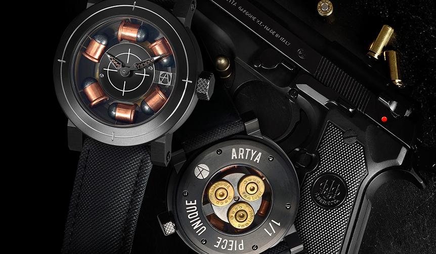 ArtyA|銃器をモチーフにしたハードボイルドデザインウォッチ「サナガバン」がアップデイト