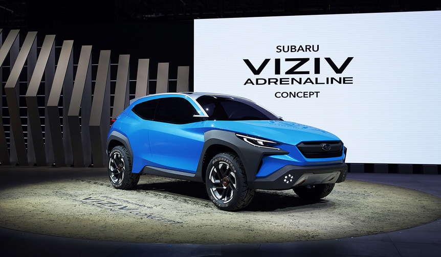 スバル、「BOLDER」デザインを反映させたコンセプトカーを世界初披露 Subaru