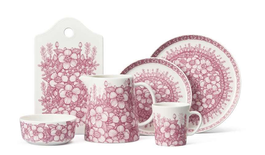 ARABIA サマーハウスに咲き乱れる優しいピンクの野薔薇がモチーフ