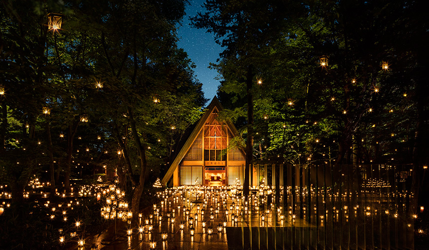 TRAVEL|軽井沢高原教会でランタンの灯りに包まれる「サマーキャンドルナイト」開催