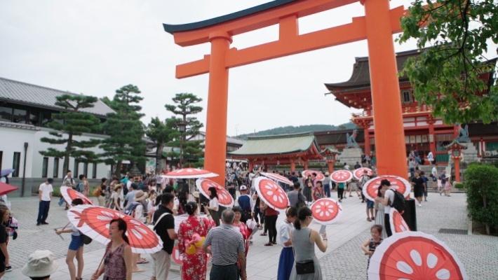 京都での実験の様子