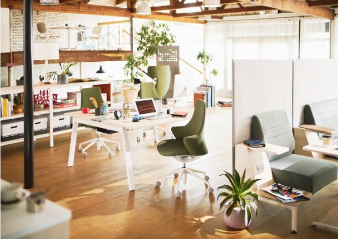 Lives/働く人それぞれに合った空間づくりを支えるため、オフィスに求められる多様な空間を構築するためのファニチュアシリーズ